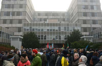 Dimostrazione contro la chiusura dell'ospedale di Acqui Terme