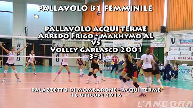 Pallavolo Acqui Terme serie B1 vs Volley Garlasco 2001