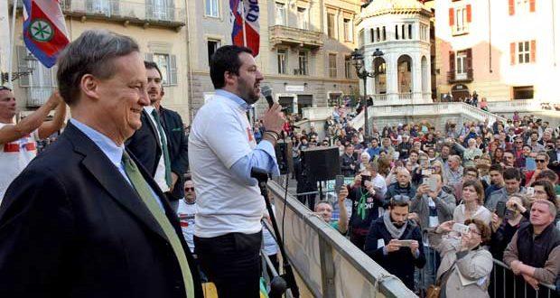 Acqui campagna elettorale, Matteo Salvini