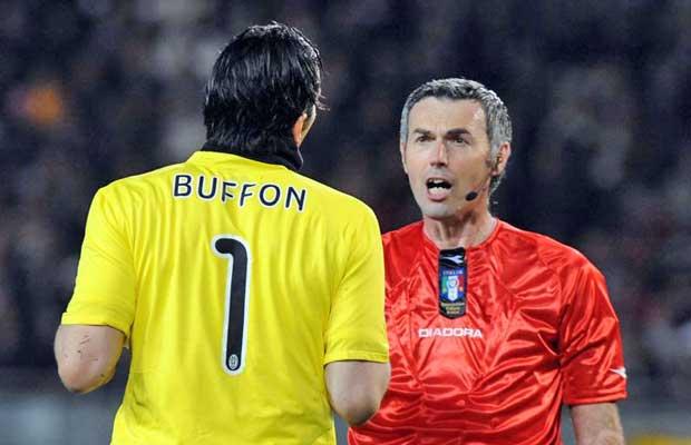 Stefano Farina con Gigi Buffon