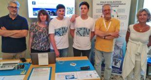 delegazione del'istituto Montalcini alla fiera di Udine
