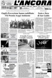 prima pagina de L'Ancora in edicola