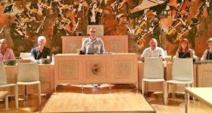 La giunta comunale di Acqui Terme con il sindaco Lucchini