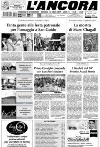 prima pagina de L'Ancora n28 2017