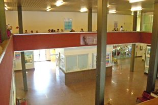 L'atrio dell'ospedale civile di Acqui Terme
