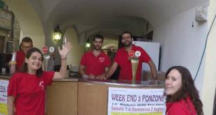 Alcuni ragazzi della proloco di Ponzone