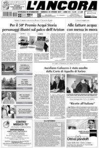 L'Ancora prima pagina num.39/2017
