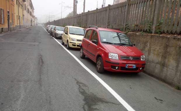 via Santa Caterina, nuovi parcheggi