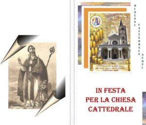 """volantino """"in festa per la chiesa Cattedrale"""" di Acqui"""