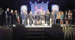 i premiati dell'Acqui Storia sul palco dell'Ariston