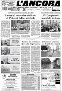 prima pagina de L'Ancora n.42-2017