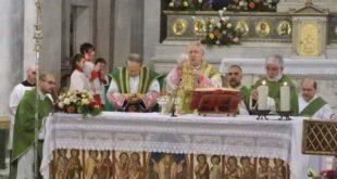 la messa del 5 novembre presieduta da mons. Mario Oliveri