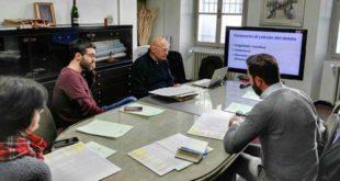 l'assessore Scovazzi al lavoro con i componenti dell'ufficio ragioneria del Comune di Acqui