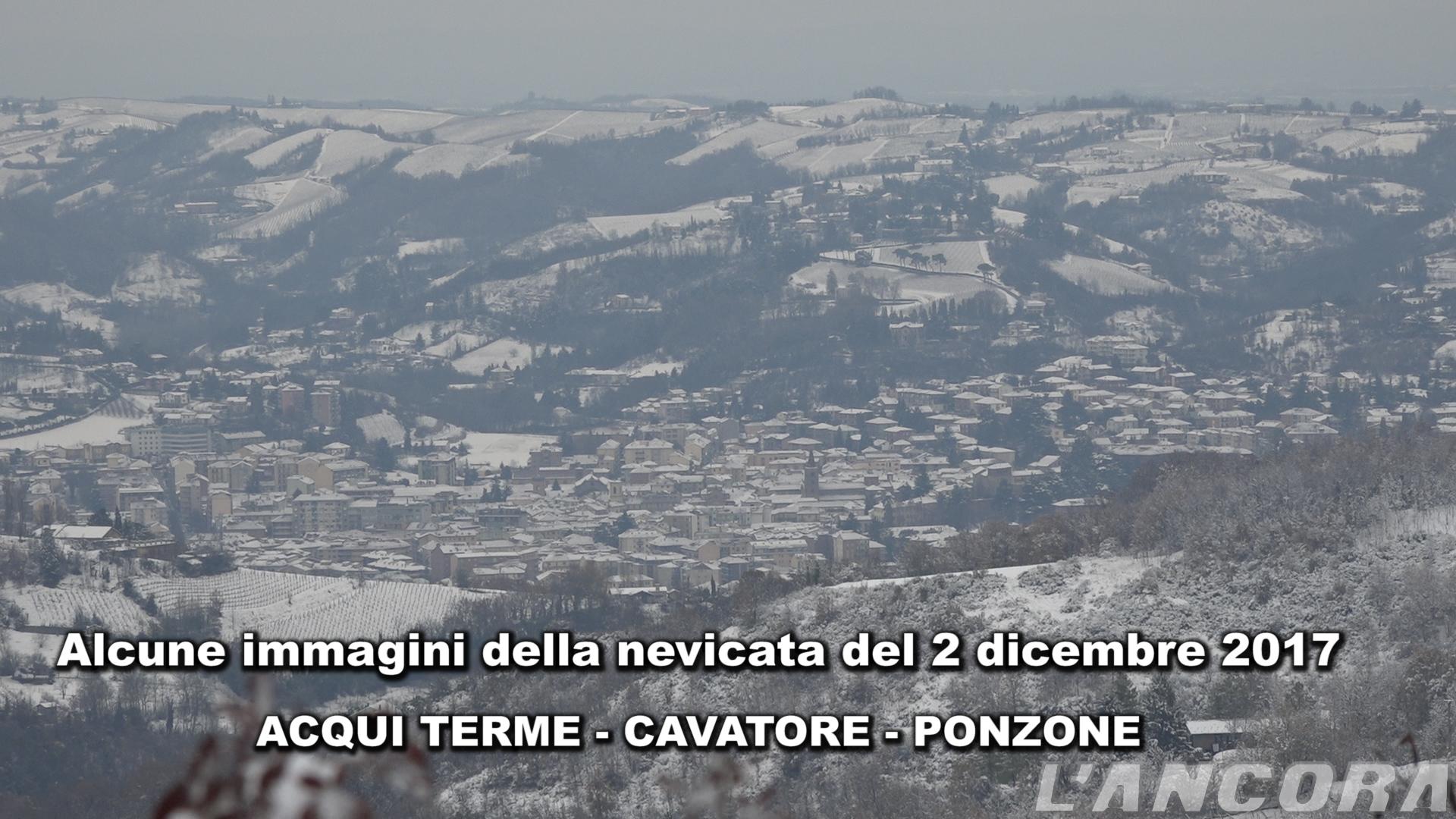 Nevicata del 2 dicembre 2017 - Acqui Terme - Cavatore - Ponzone