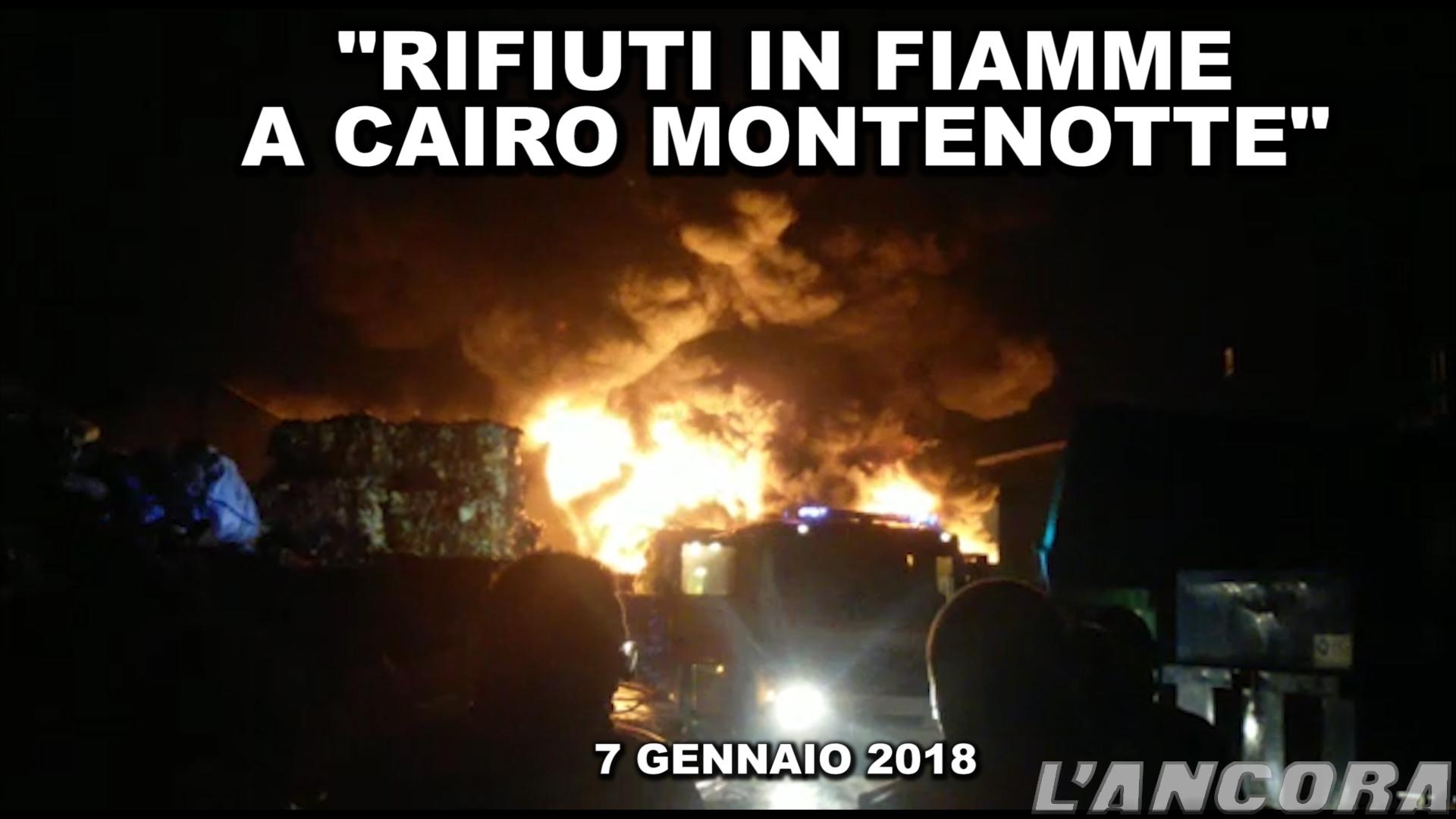 Rifiuti in fiamme a Cairo