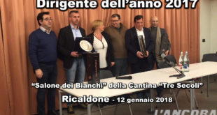 VIDEO - A Ricaldone il Dirigente sportivo dell'anno