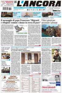 N°1 del 7 gennaio 2018 prima pagina