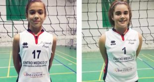 Marika Bazzano e Michela Gandolfi dell'under 13 Acqui Volley