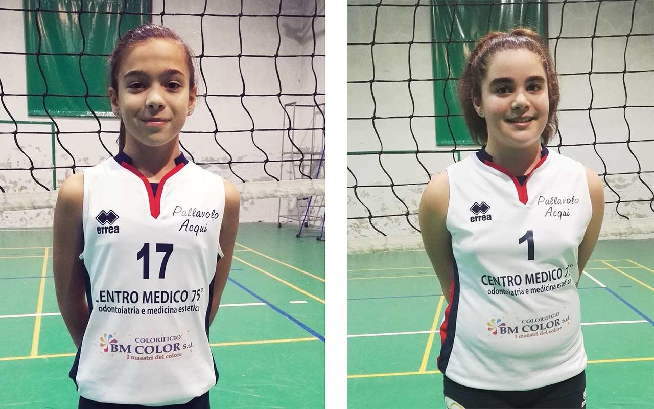 Marika Bazzano e Michela Gandolfi dell'under 13 Acqui Volley