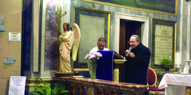 Padre Winston con il Vescovo Micchiardi