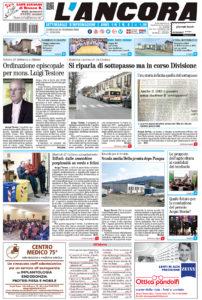 prima pagina L'Ancora n.8 del 25-02-2018