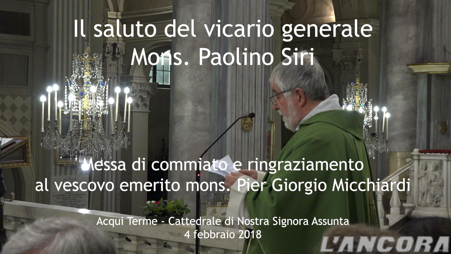 Video Mons. Paolino Siri