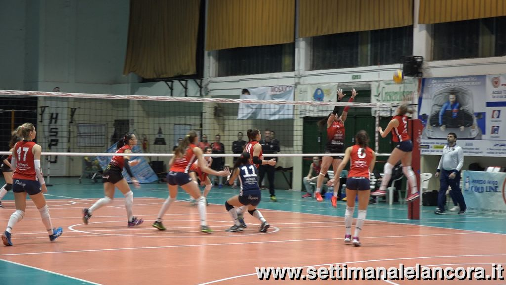 volley femminile, azione