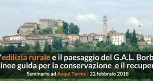 """Ad Acqui Terme """"L'edilizia rurale e il paesaggio del G.A.L. Borba"""""""