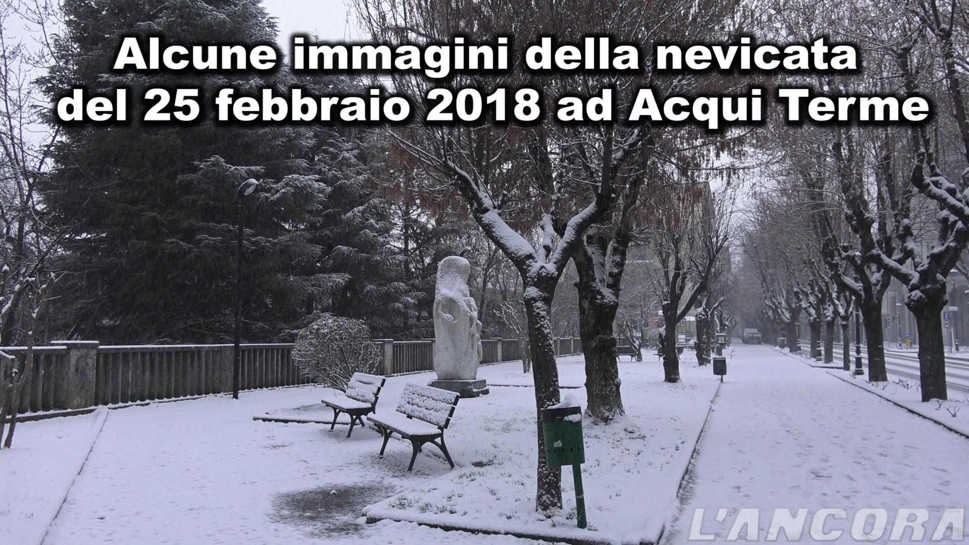 Alcune immagini della nevicata ad Acqui Terme