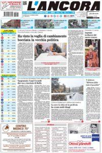 prima pagina L'Ancora n.10  2018