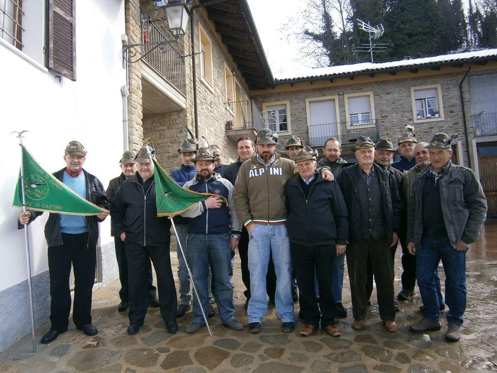 Castino gruppo alpini festa del tesseramento
