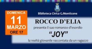"""Domenica 11 a Canelli presentazione romanzo """"Joy"""""""