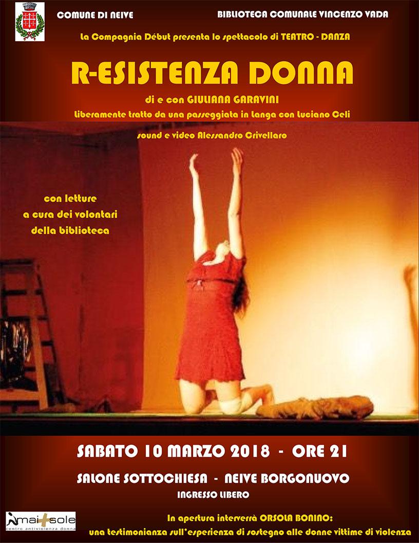 """A Neive lo spettacolo """"R-Esistenza Donna"""""""