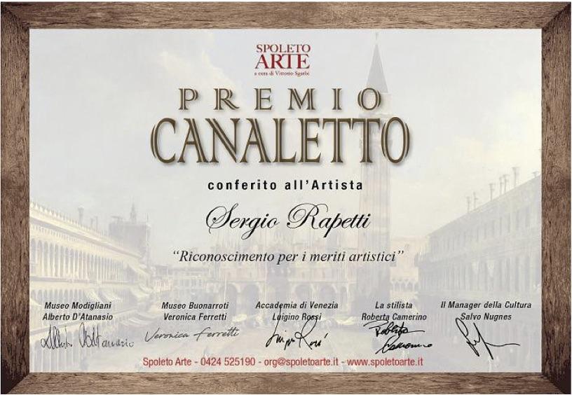 Al Maestro d'arte Sergio Rapetti