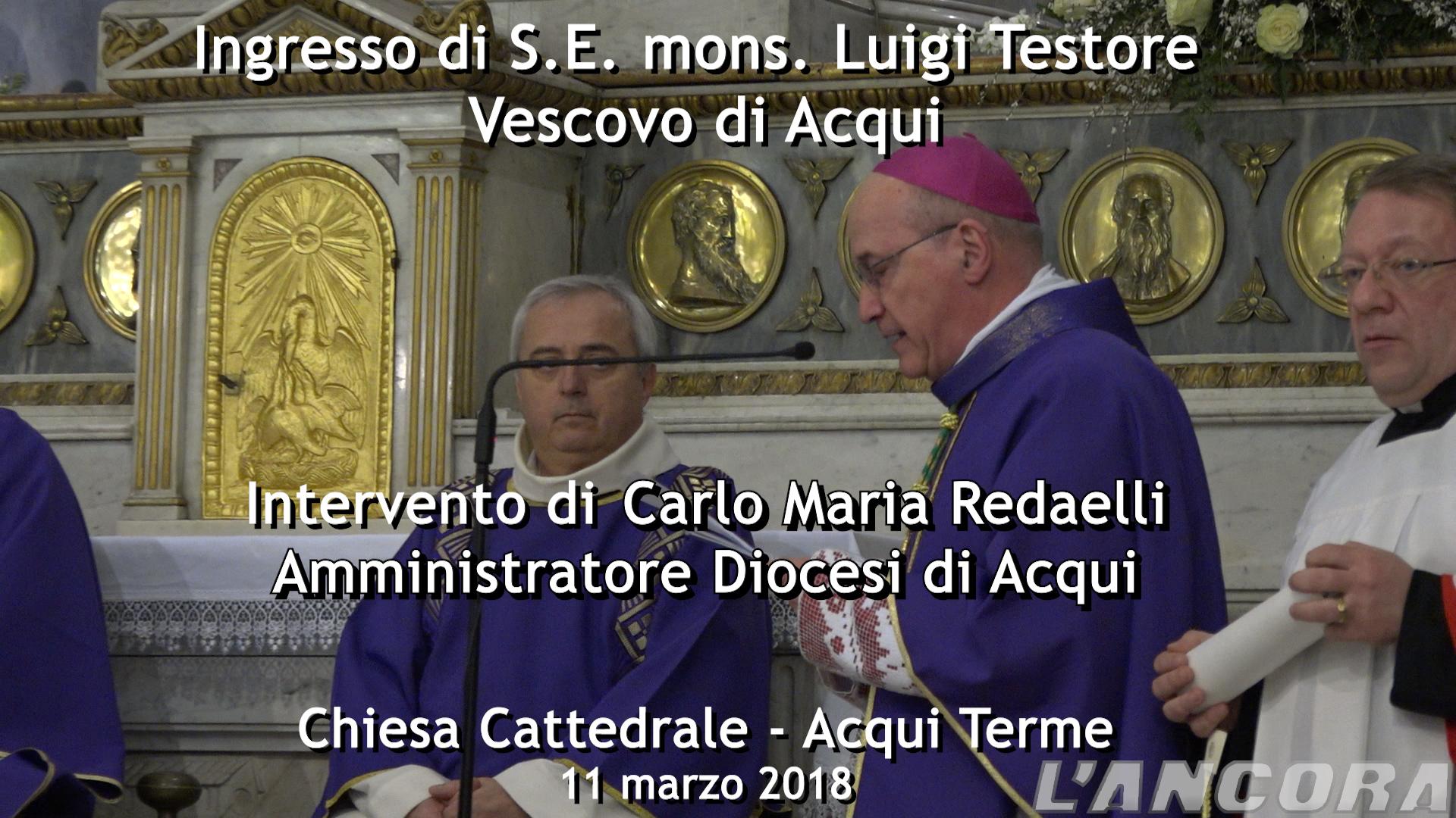 Ingresso del Vescovo Testore - Intervento di Carlo Maria Redaelli