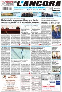 prima pagina del numero 15 del 15-04-18