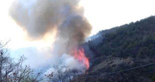 Incendio nei boschi di Ponzone