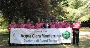 A Monastero Bormida concerto coro alpino Acqua Ciara Monferrina