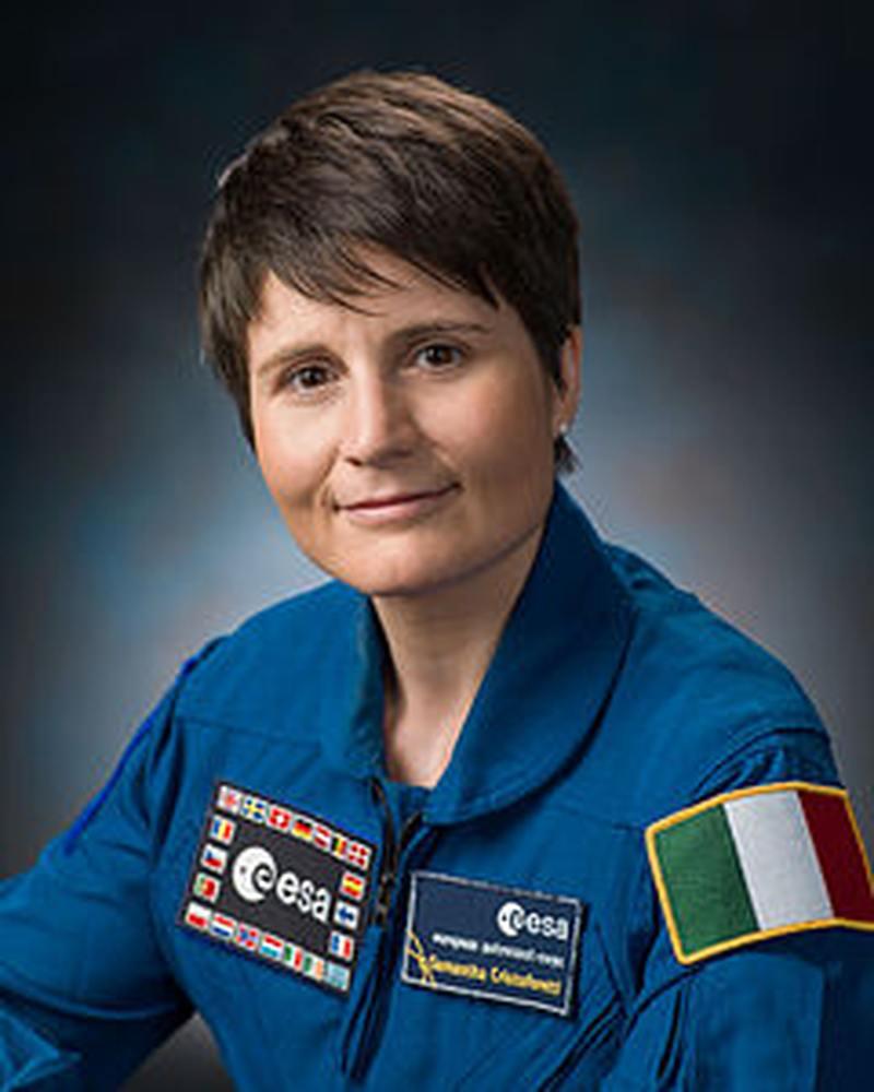 L'astronauta Cristoforetti, via Skype, con gli studenti del Montalcini