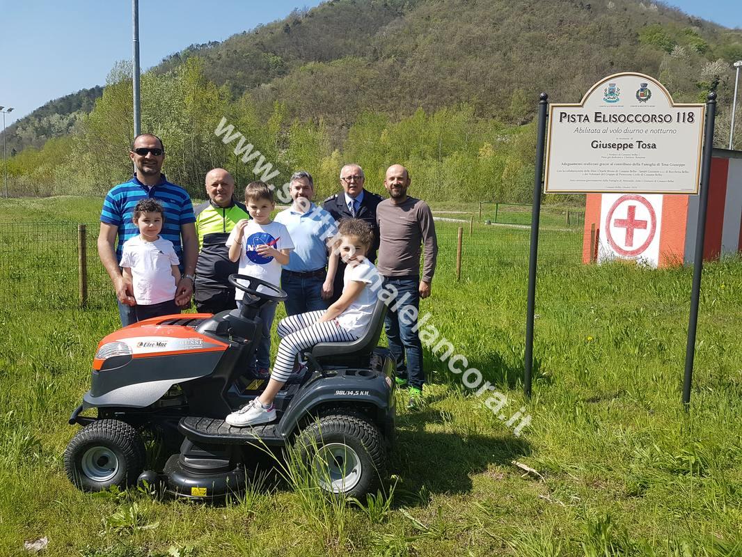 Nuova attrezzatura per la pista Elisoccorso a Cossano e Rocchetta Belbo