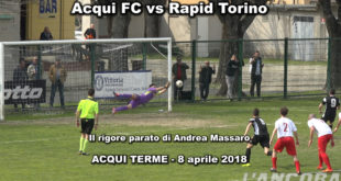 Video partita Acqui contro Rapid Torino