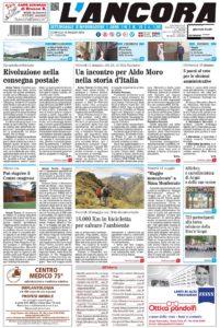prima pagina L'Ancora num.19/2018