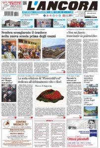 prima pagina L'Ancora n.21/2018