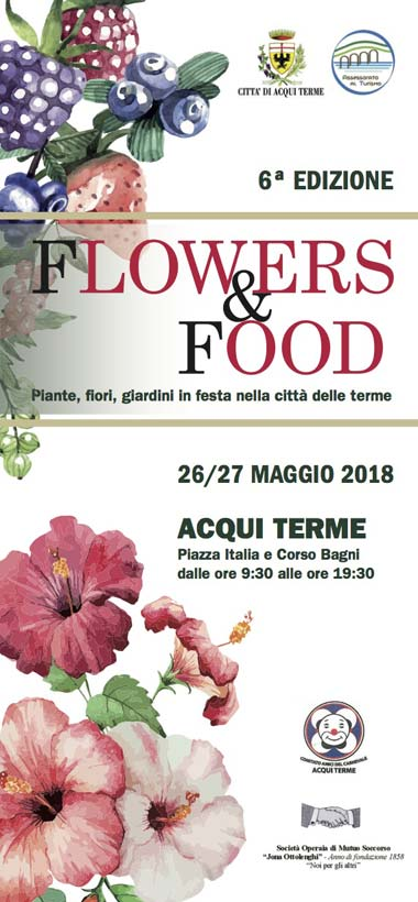 locandina flowers & food