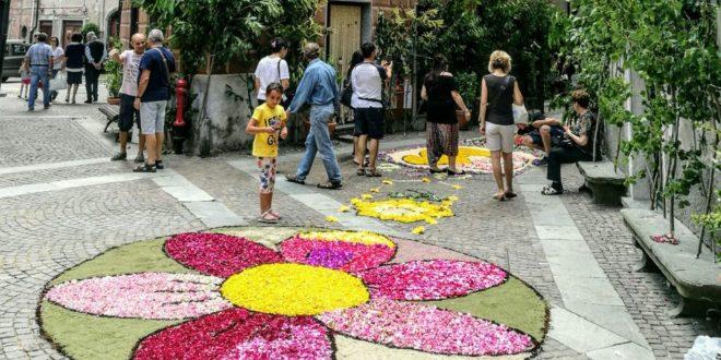 Sassello si prepara l'Infiorata 2018 per la festa del Corpus Domini