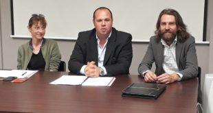 Simona Gaviati col presidente regionale Cia Piemonte Gabriele Carenini e a Simone Turin (presidente regionale de La Spesa in Campagna)
