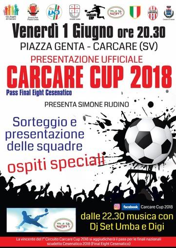 Carcare Cup: venerdì 1 giugno il sorteggio