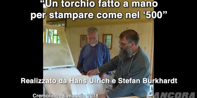 """Cremolino: """"Un torchio fatto a mano per stampare come nel '500"""" (VIDEO)"""