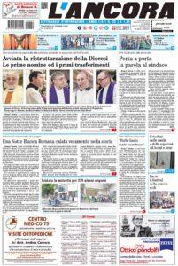 prima pagina L'Ancora n.25/2018