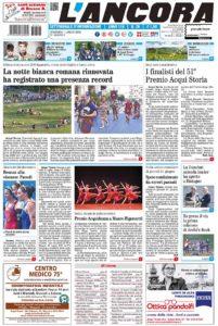 prima pagina L'Ancora n.26/2018